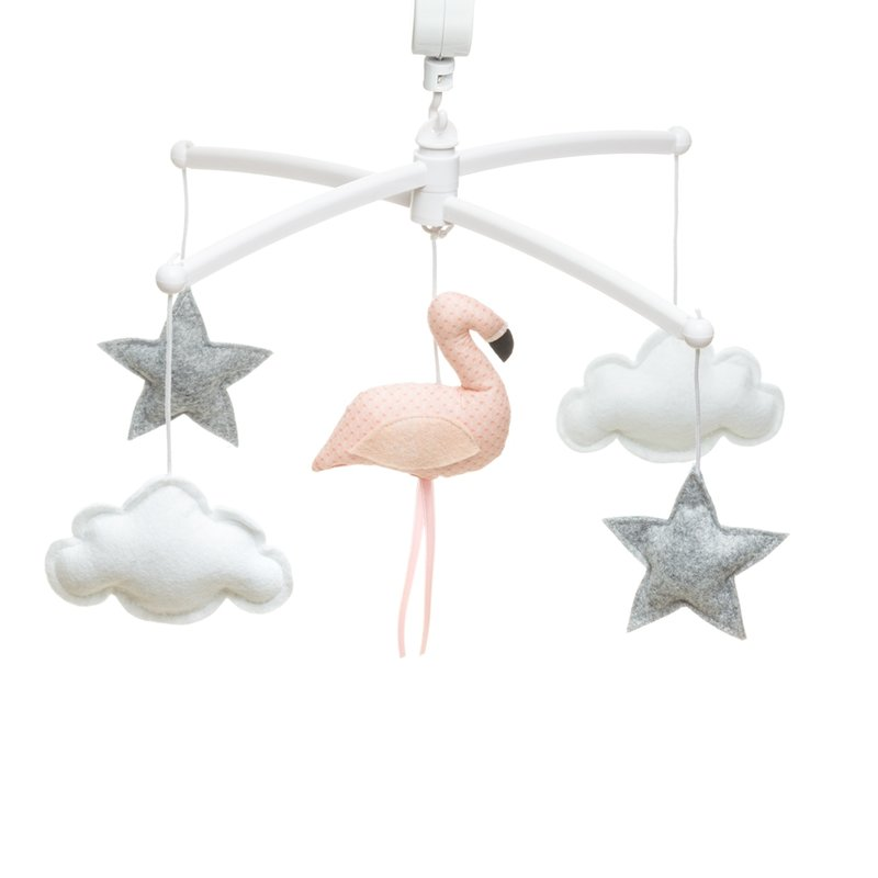 Mobile musical Flamand rose