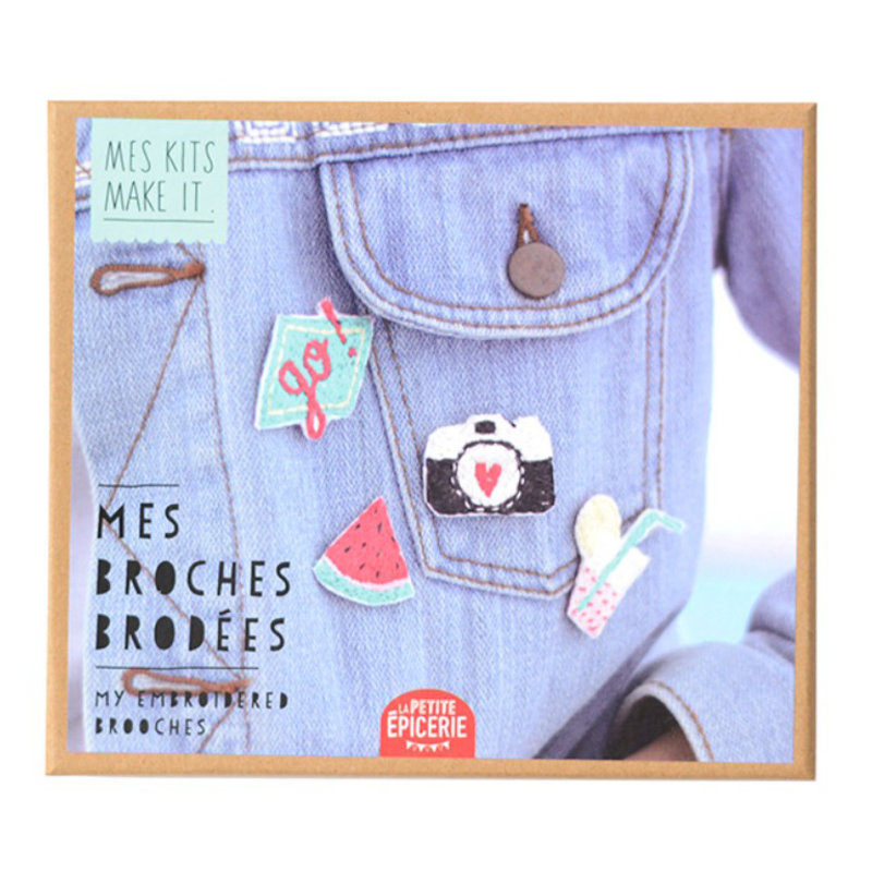Kit Broches brodées