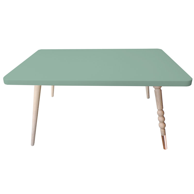 Table basse My Lovely Ballerine vert cuivre - Ht 37 cm