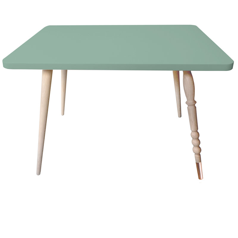 Table basse My Lovely Ballerine vert laiton - Ht 47 cm