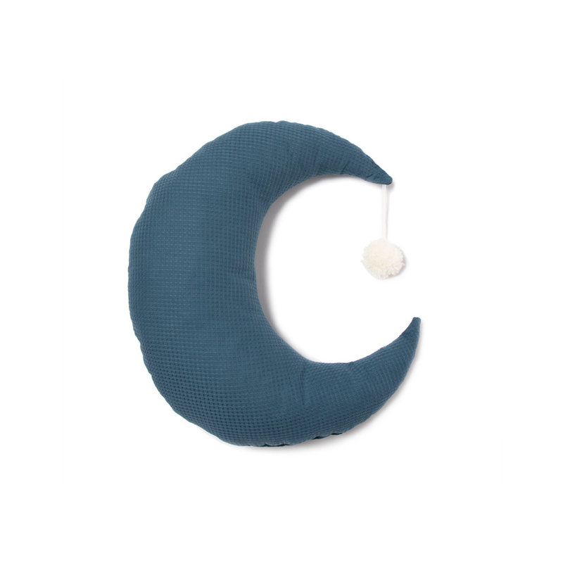 Coussin lune Pierrot Night blue