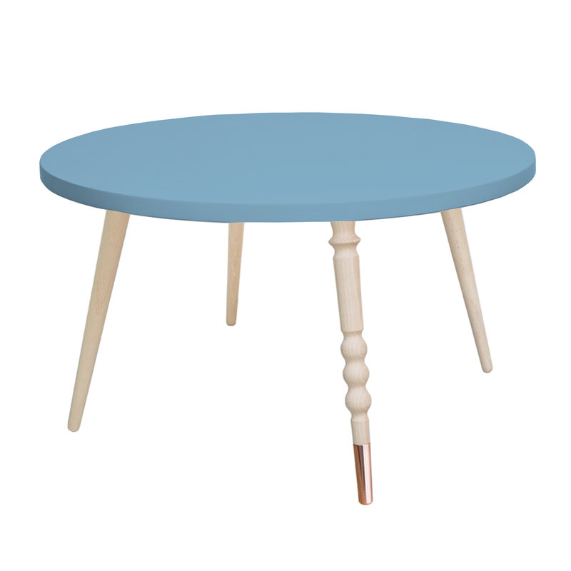 Table basse My Lovely Ballerine bleu laiton - Ht 37 cm