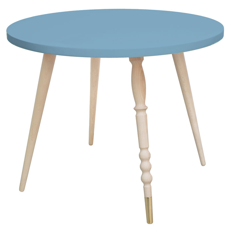 Table basse My Lovely Ballerine bleu cuivre - Ht 47 cm