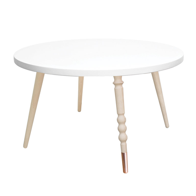 Table basse My Lovely Ballerine blanc laiton - Ht 37 cm