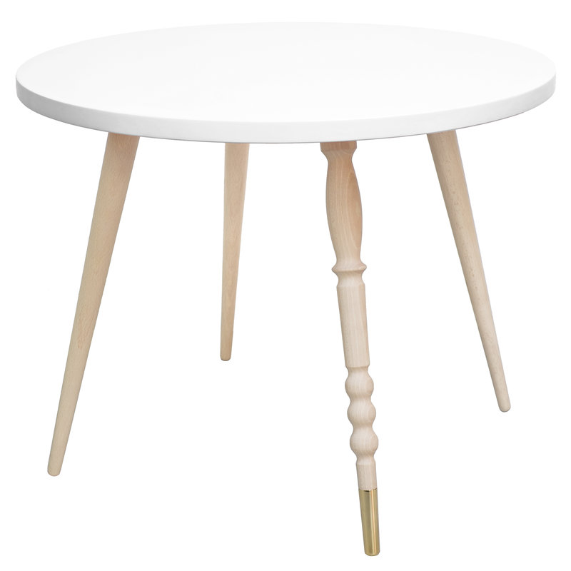 Table basse My Lovely Ballerine blanc laiton - Ht 47 cm