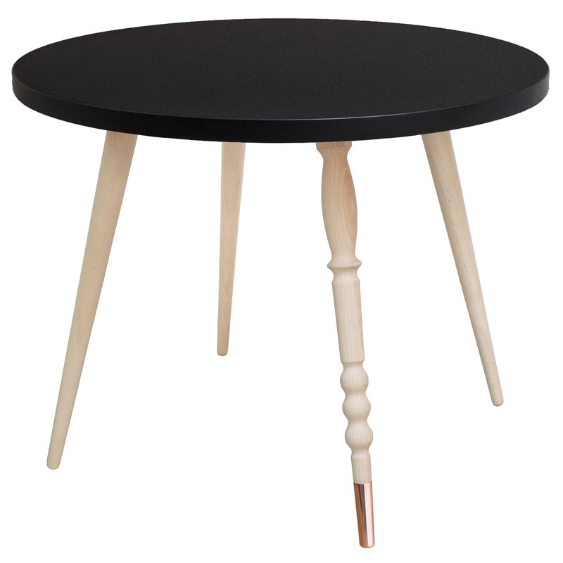 Table basse My Lovely Ballerine noir cuivre - Ht 47 cm