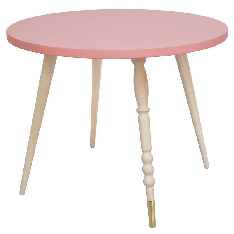 Table basse My Lovely Ballerine rose laiton - Ht 47 cm