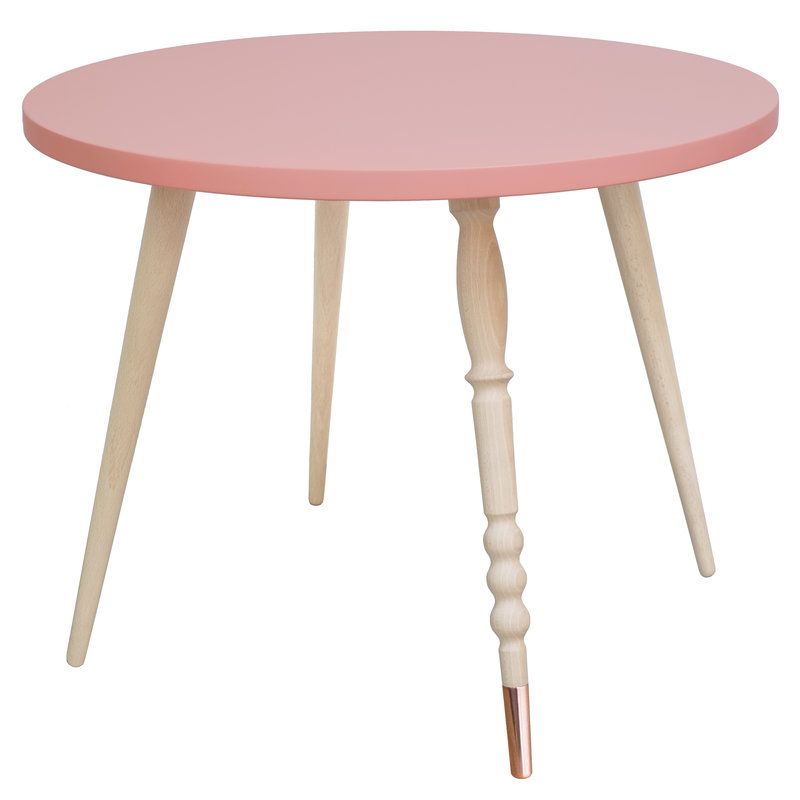 Table basse My Lovely Ballerine rose cuivre - Ht 47 cm