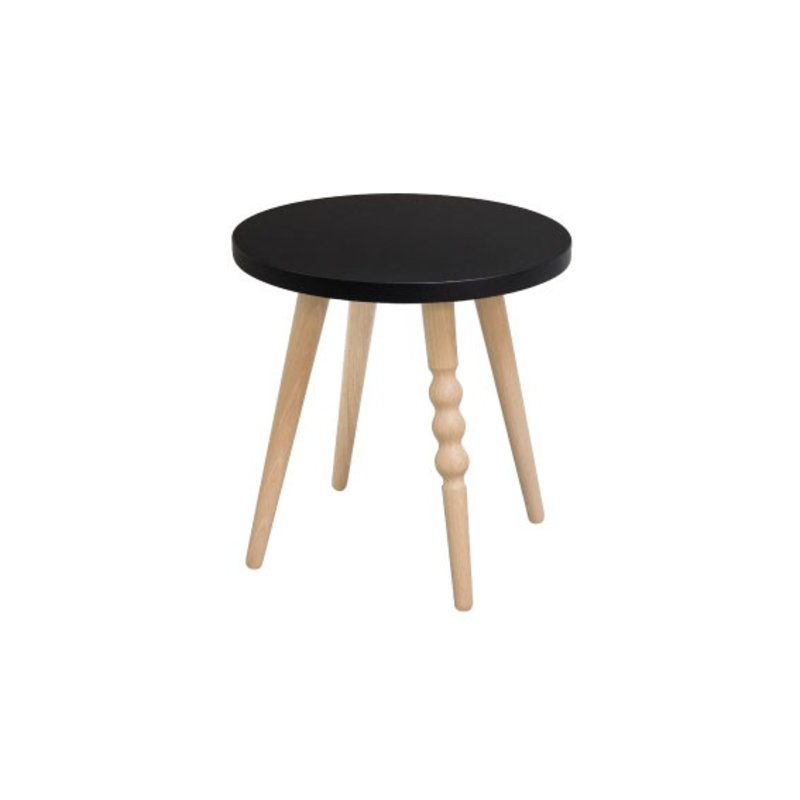tabouret enfant rond my lovely ballerine noir ht 30 cm. Black Bedroom Furniture Sets. Home Design Ideas