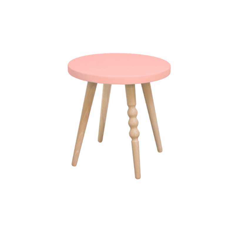 Tabouret enfant - rond - My Lovely Ballerine rose - 30 cm