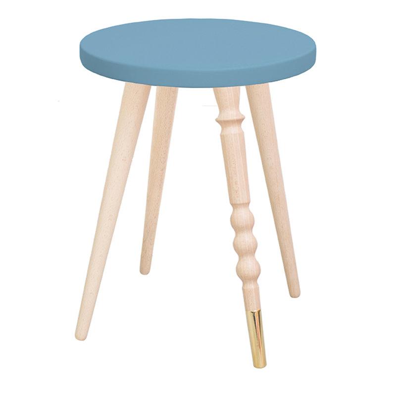 table d 39 appoint table de chevet my lovely ballerine bleu laiton ht 37 cm. Black Bedroom Furniture Sets. Home Design Ideas
