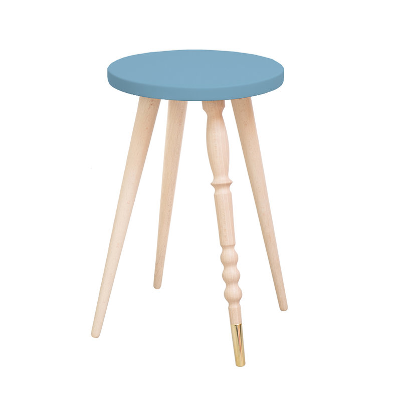 Table d'appoint My Lovely Ballerine bleu laiton - Ht 47 cm