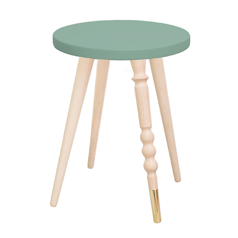 Table de chevet My Lovely Ballerine vert cuivre - Ht 37 cm