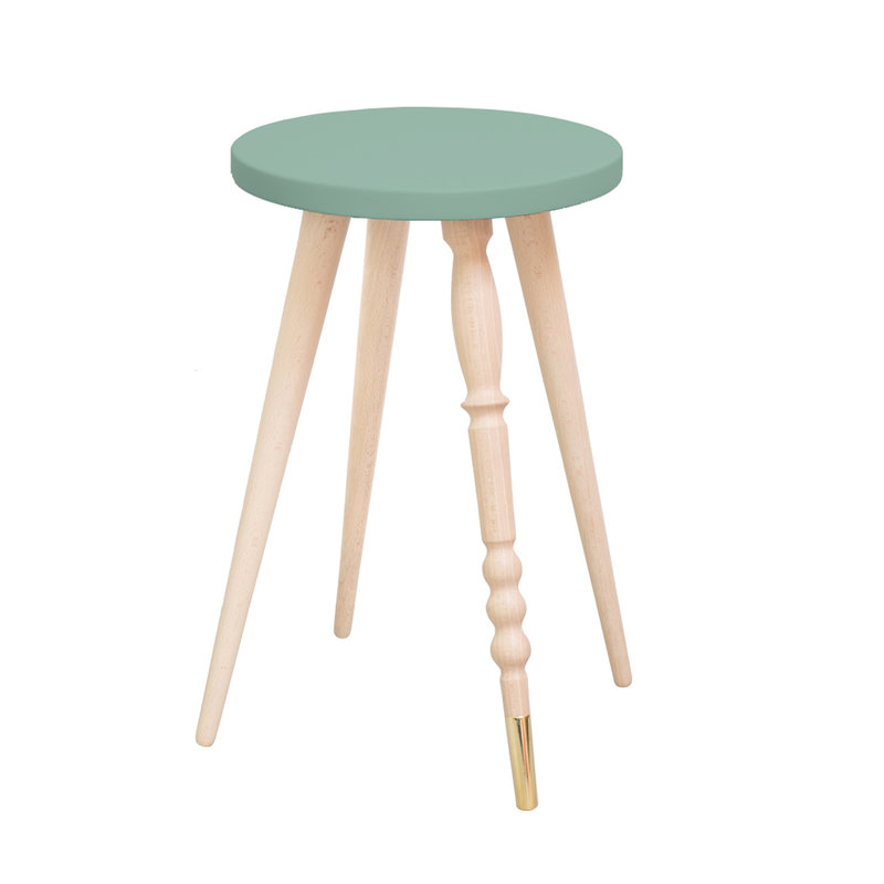 Table d'appoint My Lovely Ballerine vert cuivre - Ht 47 cm