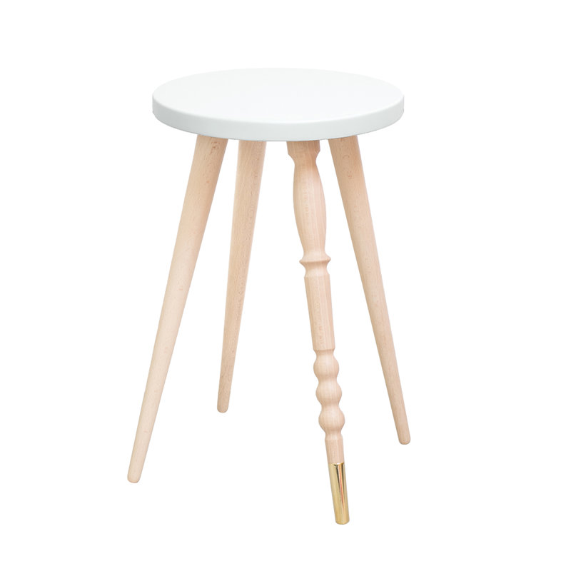 Table d'appoint My Lovely Ballerine blanc laiton - Ht 47 cm