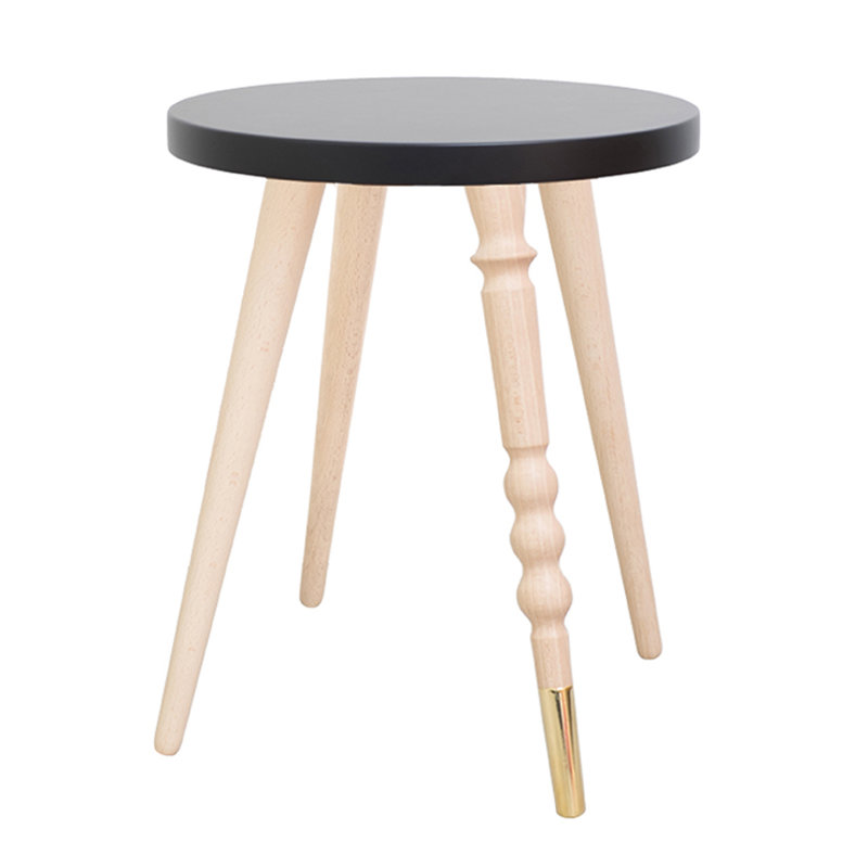 Table de chevet My Lovely Ballerine noir cuivre - Ht 37 cm
