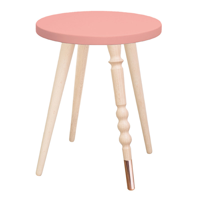 Table de chevet My Lovely Ballerine rose cuivre - Ht 37 cm