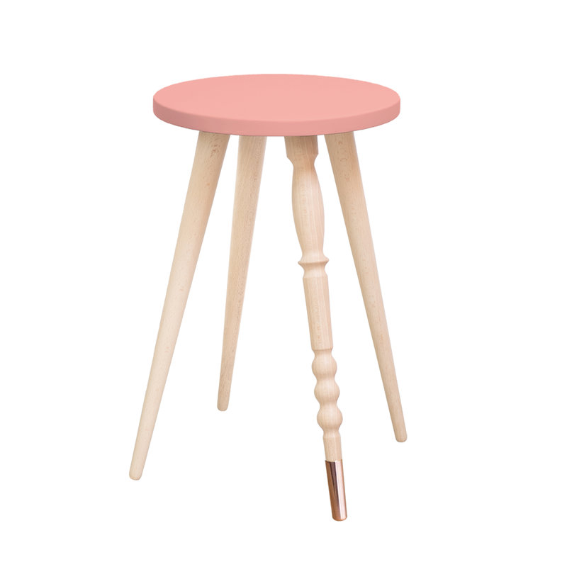 Table d'appoint My Lovely Ballerine rose laiton - Ht 47 cm