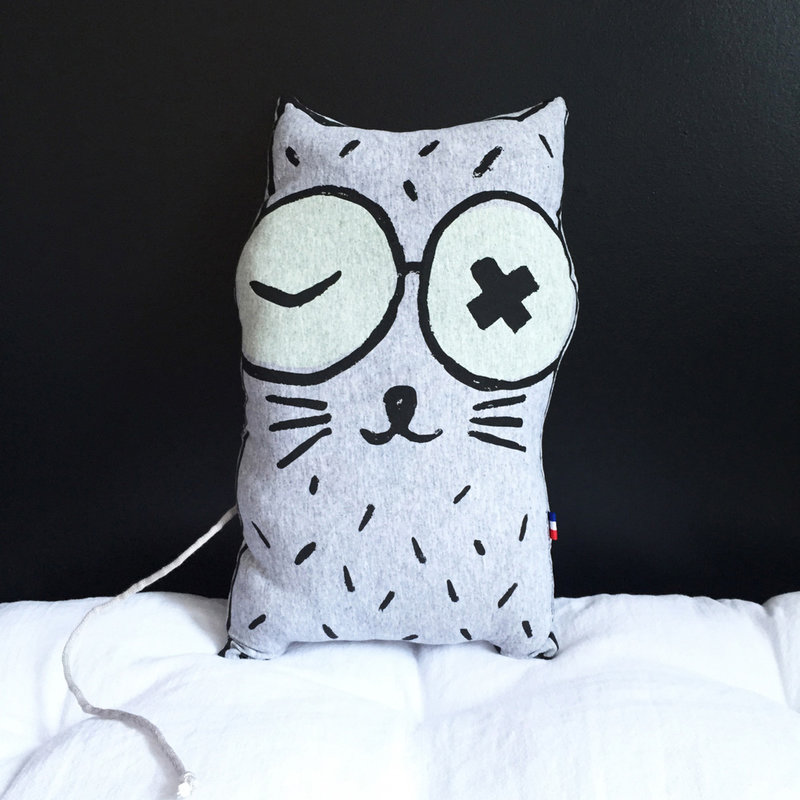 LPM Coussin Chat phosphorescent
